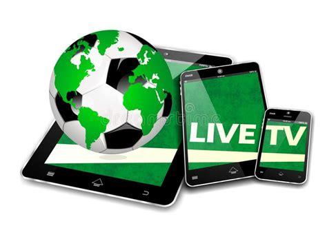 live soccer mobile mobile tv soccer stock illustration image of application