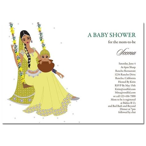 indian baby shower invitation cards templates indian baby shower invitations jhula baby baby shower