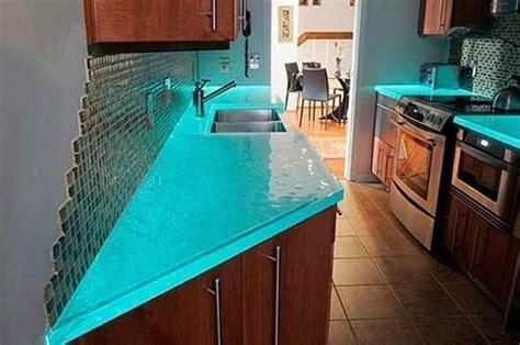 decorating ideas for kitchen countertops modern glass kitchen countertop ideas latest trends in