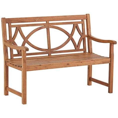 natural wood bench outdoor noah 47 1 4 quot wide natural wood outdoor bench 22v69
