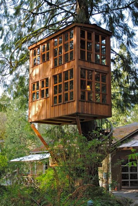 this extraordinary tree house is in issaquah washington 30 minutes east of seattle the
