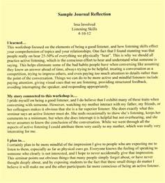 How To Write A Journal Paper Example Examples Reflective Essay