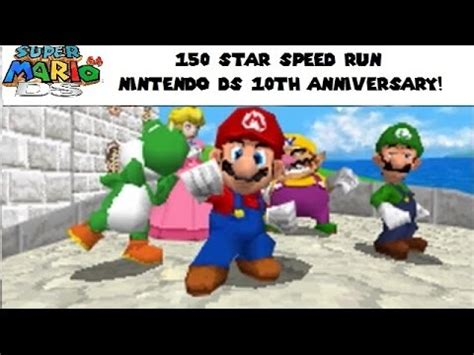 Shiny Review Mario 64 For The Ds by Mario 64 Ds 150 Speed Run Nintendo Ds 10 Year