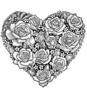 coloring pages for adults roses collections
