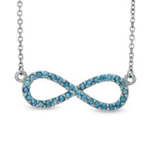 Infinity Necklace Zales Blue Topaz Infinity Necklace In Sterling Silver