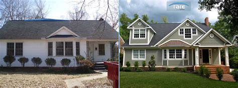 greenville home remodel design before and after kupersmith front elevation