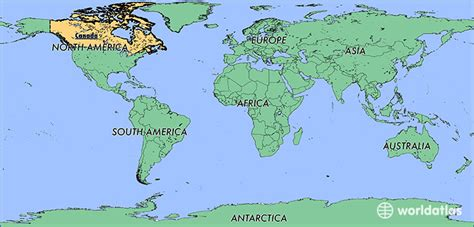 toronto in world map where is canada where is canada located in the world