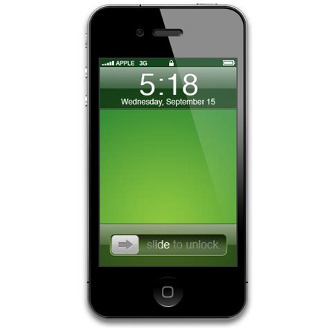 iPhone 4 Green Icon - iPhone 4 Icons - SoftIcons.com