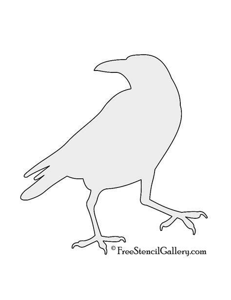 js template pattern raven pumpkin template free carving pictures
