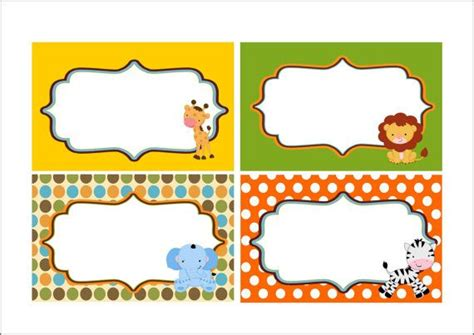 printable zoo animal name tags safari jungle table tent buy 2 get 1 free digital diy