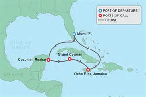 Caribbean Cruise Map by Gallery For Gt Western Caribbean Cruise Map