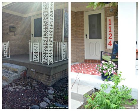 Front Porch Makeover Before And After porch makeover reveal how diy number sign