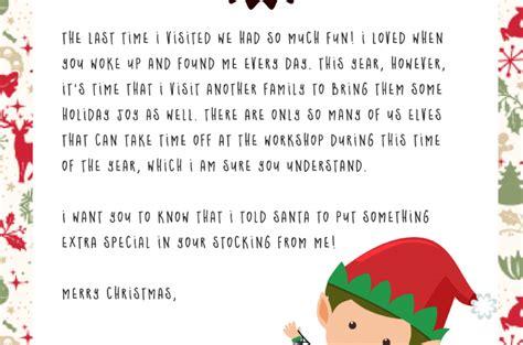 elf on the shelf goodbye letter pdf elf on the shelf free dear santa printable set