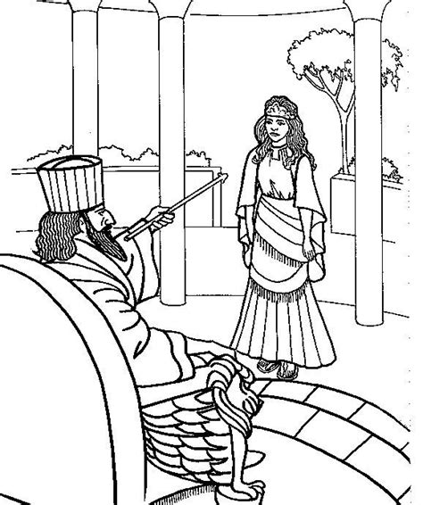 Coloring Page Esther by Free Coloring Pages Of Bible Stories Esther