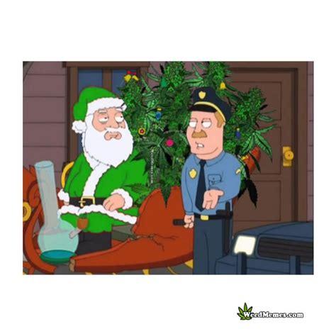 stoner santa  cannabis trees stopped  cops cartoon pic weed memes