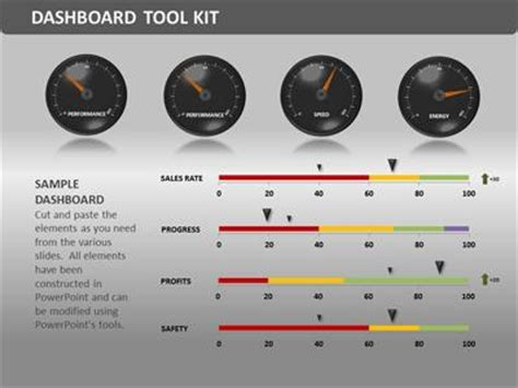 Dashboard Tool Kit A Powerpoint Template From Presentermedia Com Powerpoint Dashboard Template Free