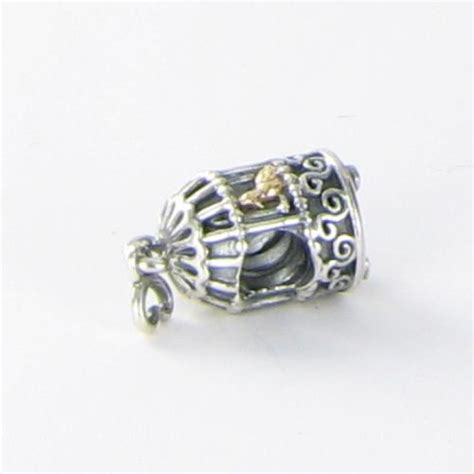 bead song pandora 791114 charm bead song bird cage 14k yellow gold