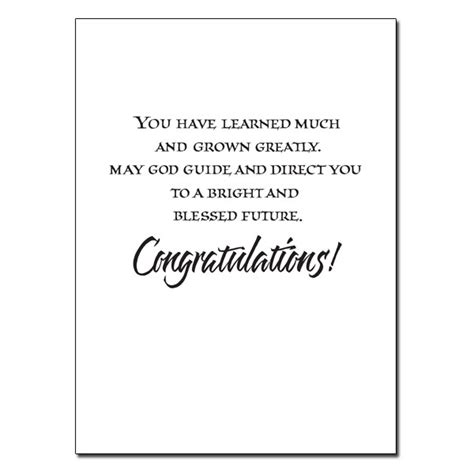 Congratulations On Your Wedding Bible Verses by Blessings On Your Graduation Day Graduation Card