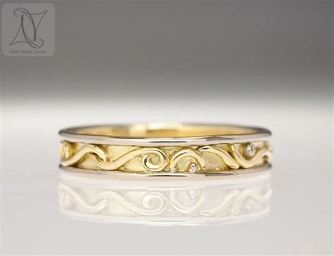 Handmade Gold Wedding Bands - handmade gold wedding ring