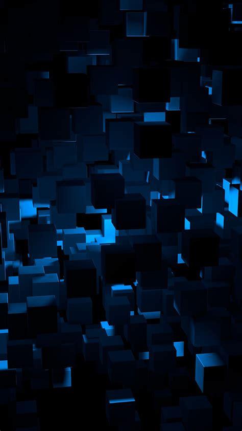 papersco iphone wallpaper vn cube dark blue
