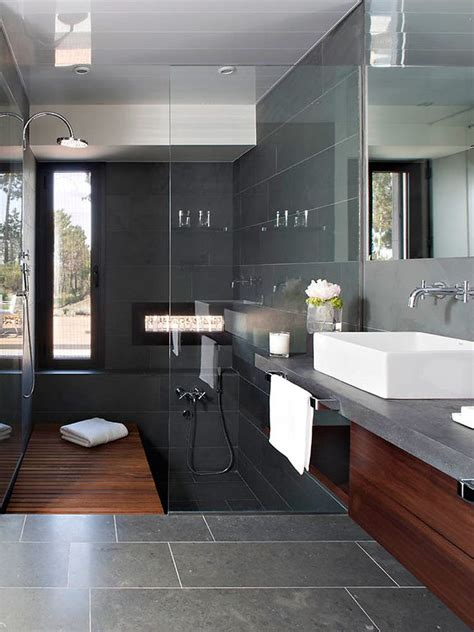 dark grey tiled bathroom bathroom decorating 33 black slate bathroom floor tiles ideas and pictures