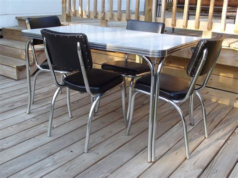 1950s kitchen table and chairs vintage retro 1950s quot kuehne quot dining kitchen formica chrome