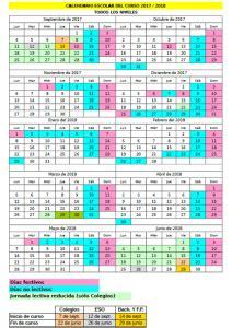 Calendario Escolar Cantabria Calendario Escolar Cantabria 2017 18 Acaaci