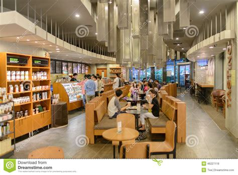 Starbucks Cafe Interior Editorial Stock Image   Image: 46227119