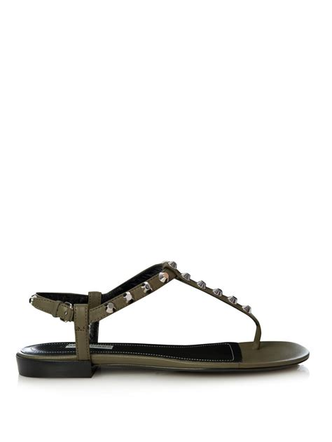 balenciaga arena studded flat sandals in lyst