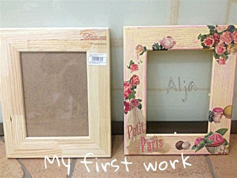 Decoupage Frame - decoupage diy vintage frame decoration and
