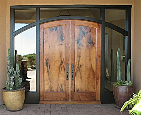 Handmade Front Doors Handmade Arched Mesquite Entry Doors In Ebonized Mahogany Jamb By Wgh Woodworking Custommade