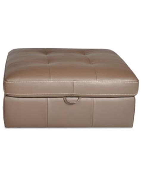 36 X 36 Storage Ottoman Damon Leather Ottoman Storage 48 Quot W X 36 Quot D X 17 Quot H Furniture Macy S