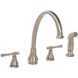 Double Handle Kitchen Faucet Torino Double Handle Widespread Kitchen Faucet Wayfair