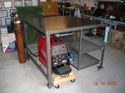 how to build a welding bench welding table build