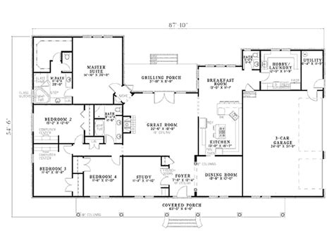 a floor plan of a house building our dream home floor plans