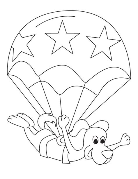 toodler parachute picture to color download free toodler