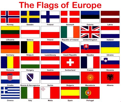 flags of the world by colour countries europe flags printable google search