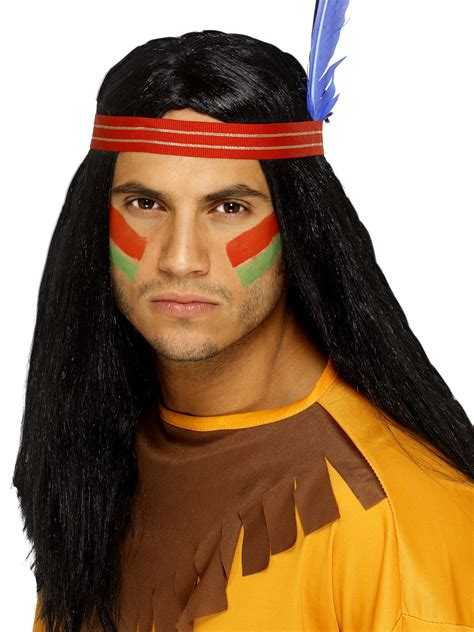 by indian indian brave wig 42189 fancy dress