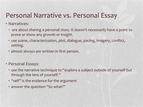 sle narrative essays personal narrative essay sle papers 28 images ppt from