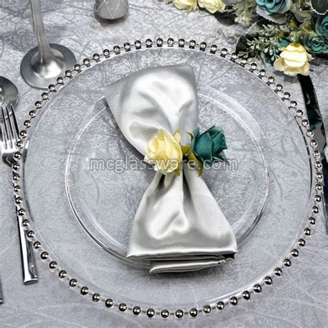 gold beaded glass charger plates silver beaded clear glass charger plates suppliers in china
