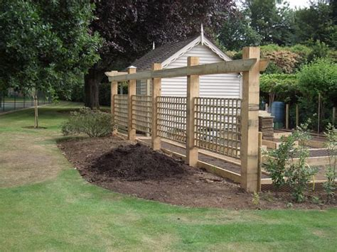 wooden trellis fence designs woodworking projects plans