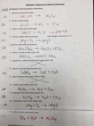 worksheet 4 single replacement reactions answers predicting products of chemical reactions worksheet