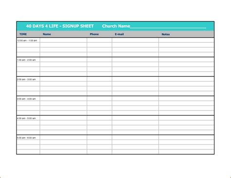 volunteer schedule template 10 volunteer sign up sheet template