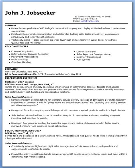sles of resume for demo resume sales