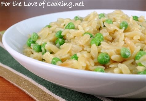 orzo pastina with parmigiano orzo with peas and parmesan for the love of cooking