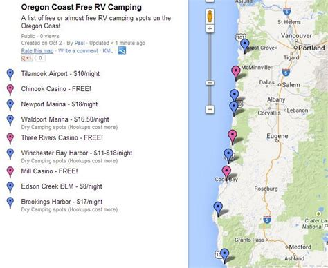 map of oregon rv parks 17 best images about cing rv reviews on