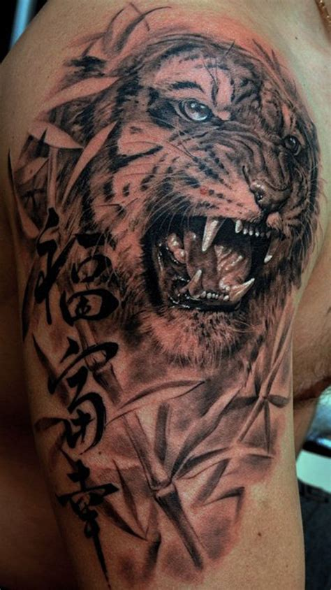 tiger realistic tattoo for women design idea for men and women