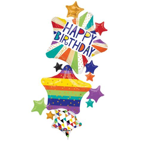 Foil Hbd multi balloon quot hbd bright quot foil balloon p70 packed