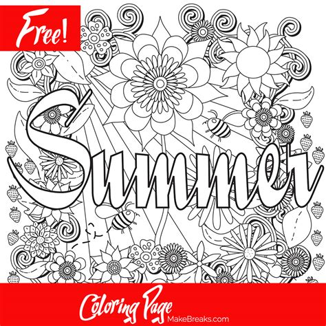 free summer coloring pages free printable summer coloring page make breaks