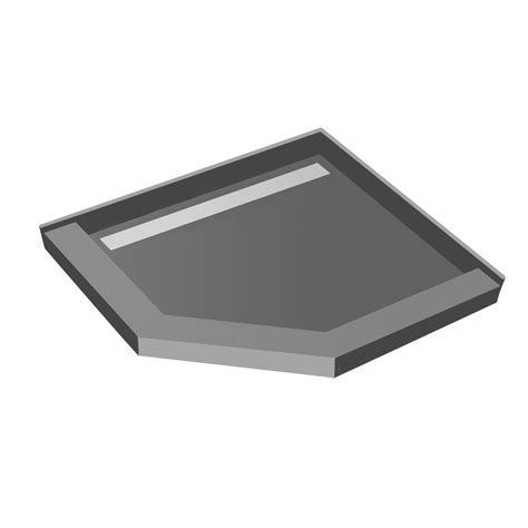 36x36 neo angle redi trench8482 shower pan with tileable